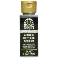 Olive Green PLAID FOLKART ACRYLIC 2 OZ - 449