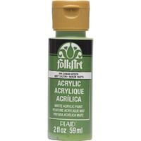 Grass Green PLAID FOLKART ACRYLIC 2 OZ - 644