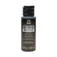 Plaid FolkArt - Black - Brushed Metal Acrylic Paint 5166 59ml