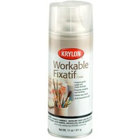 Krylon Workable Fixatif Spray Clear, 11-Ounce Aerosol, Matte K01306