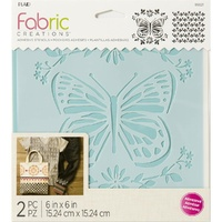 "Plaid® Fabric Creations™ Stencil Butterfly 6"" x 6"""
