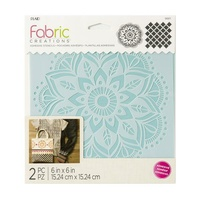 "Plaid® Fabric Creations™ Stencil Mandala 6"" x 6"""