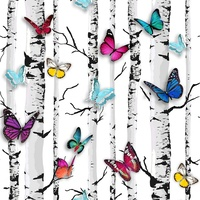 Emperor's Garden Butterfly Wallpaper White Muriva 102529 x 1mt