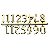 "Arabic Clock Numbers - 1"" Gold"