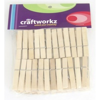 Mini Wooden Pegs 45mm x 48