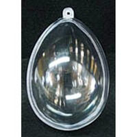 Egg Shape 10cm - clear plastic box bauble