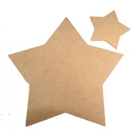 Star Plaque MDF cutout 30 x 30cm x 0.3cm