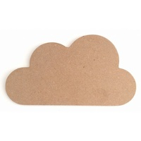 Cloud Plaque MDF cutout 22 x 12cm