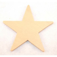 Star Wood Cut Out 12.5cm X 1