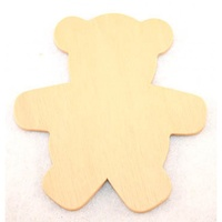 Teddy Wood Cut Out 2.5cm X 12PCS