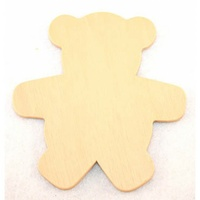 Teddy Wooden Cut Outs Various Sizes x 12 pieces