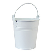 Mini White Tin Bucket