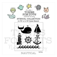 Tones For Tots Stencil - Nautical Stencil
