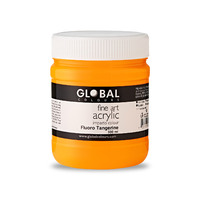 Global Fluoro Tangerine - 500ml UV Fine Art Acrylic Impasto Paint