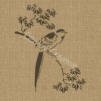 Gemini Creative - Bird and Leaves Stencil