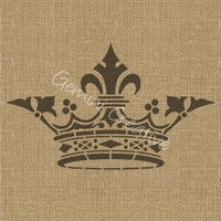 Gemini Creative French Crown Stencils CR6