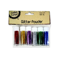 CRAFT GLITTER POWDER Pack of 6