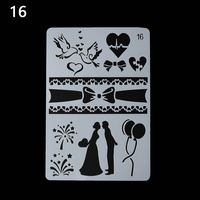 Stencil Love, Ribbons and Balloons - No 16