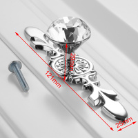 Crystal-Zinc Alloy 121mm Knobs x 1 Clear Handle