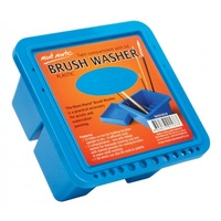 Brushwasher Twin Compartment Square Plastic
