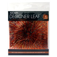 Designer Leaf - Copper Star Burst 14cm 8 sheets