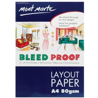 Mont Marte Bleedproof Layout Pad 80gsm 50 Sheet A4