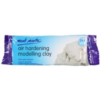 Air Hardening Modelling Clay - White 2kg
