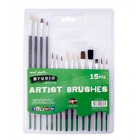 Mont Marte Studio Artist Brushes 15pc