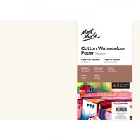 Mont Marte Cotton Watercolour Paper 300gsm A3 5 Sheets