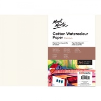 Mont Marte Cotton Watercolour Paper 300gsm A4 5 Sheets