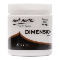 Mont Marte Dimension Acrylic Paint 250ml - Titanium White