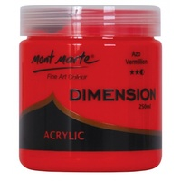 Mont Marte Dimension Acrylic Paint 250ml - Azo Vermillion