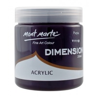 Mont Marte Dimension Acrylic Paint 250ml - Purple