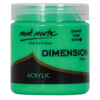 Mont Marte Dimension Acrylic Paint 250ml - Emerald Green