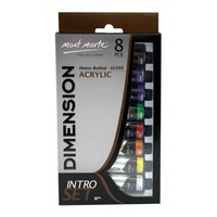 Mont Marte Dimension Acrylic Paint Intro Set 8pc set x 18ml