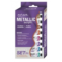 Metallic Acrylic Paint Intro Set 8pc set