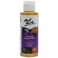 Mont Marte Premium Pouring Acrylic Paint 120ml - Gold