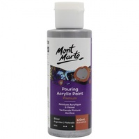 Premium Pouring Acrylic Paint 120ml - Silver