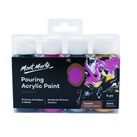 MM Pouring Acrylic 60ml 4pc - Cosmic