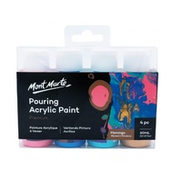 MM Pouring Acrylic 60ml 4pc - Flamingo
