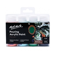 MM Pouring Acrylic 60ml 4pc - Rainforest