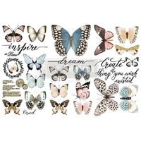 Redesign Decor Transfers - Papillon Collection 3 sheets, 15x30cm