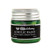 Finnabair Metallique - Metallique Green Art Alchemy Acrylic Paint 50ml