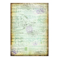 Finnabair Mixed Media Tissue Paper - Musica 1 x Sheet