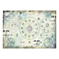 Finnabair Mixed Media Tissue Paper - Solar - 1 x Sheet