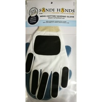 Sandi Hands Mens Left Hand White Cotton Sanding Glove Pack