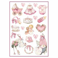 Stamperia Baby Girl Decorations A4