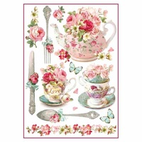 Stamperia Floral Mugs and Teapots A4