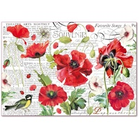 Stamperia Botanic Poppies 48 x 33cm