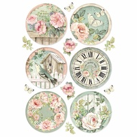 A4 Rice Paper Round clocks